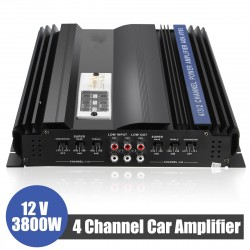 3800W 4 Channels Car Amplifier Speaker Car Audio Stereo Bass Amplifier Super Bass Output Power Stereo Amplifier Car Audio Player