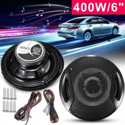 A Pair 6'' 12V 400W Iron Plastic 2-Way 2 Voice Coaxial Car Speakers