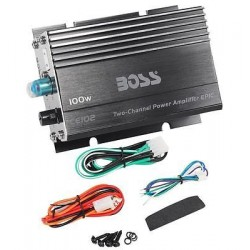 Boss CE102 100 Watt 2-Channel Mini High Power Amplifier Car