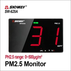 SNDWAY Gas Analyzers Gas Detector Air Quality Monitor Wall PM2.5 Detector CO2 Meter PM 2.5 Combustible Smart Sensor Gas Detector