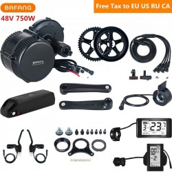 48V 750W Bafang 8fun BBS02B Mid Drive Motor Electric Bike Conversion Kit With 48V 17AH Lithium Ebike Battery C961 C965 Display