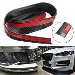 2.5M Carbon Fiber Color Car Front Bumper Spoiler Lip Splitter Protector Trim Sticker Universal