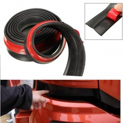 Car Rubber Strip 98 inch 2.5M Front Bumper Rubber Protector Lip Splitter Body Spoiler