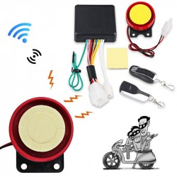 Urbanroad 12V Motorcycle Anti-theft Security Alarm System Scooter Bike ATV Anti-theft Security Alarm Remote Control Start