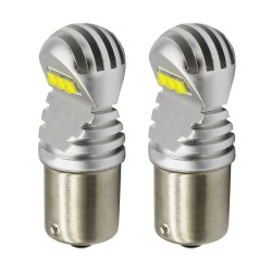 2pcs P21W LED Bulbs 1156 BA15S 1157 BAY15D T20 7440 7443 T25 White Yellow 1600Lm Turn Signal Reverse