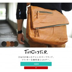 Trickster Men's Shoulder Bag Vintage PU Leather Eric tr52