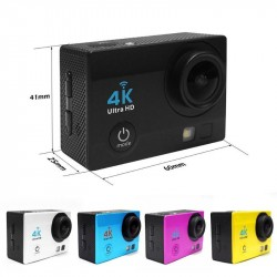 2.0 inch WiFi 1080P 4K Ultra HD Action Camera 30m Waterproof 140 Degree Lens Sport DVR DV Camcorder
