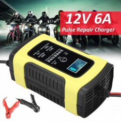 6A 12V Fully Automatic Pulse Repair Smart Battery Charger Maintainer Desulfator