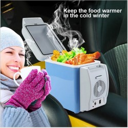 Mini Car Refrigerator Multi-Function Home Travel Vehicular Fridge Dual-use Box Cooler Warmer Temperature Control