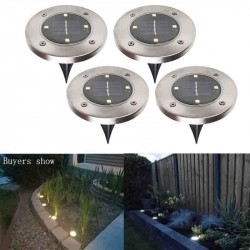 IP65 Waterproof 4 LED Solar Outdoor Ground Lamp Landscape Lawn Yard
