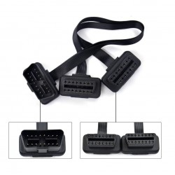 Flat Thin 16Pin OBD2 Connector Extender Splitter