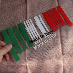 Made in Italy Flag Bar Code Car Stickers