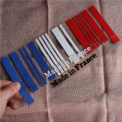 Made in France Flag Bar Code Car Stickers