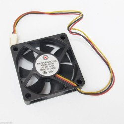 5x Brushless DC Cooling Fan 24V 0.10A 60x60x15mm 60mm 7 blades 3pin/3wire