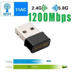 1200Mbps 2.4G 5G Dual Band Dual Band USB Dongle