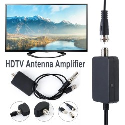 Indoor HDTV Satellite Ground Receiver Antenna Signal Amplifier Booster Tuner DVB-T DVB-T2 DVB DTV