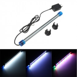 27 LED Light Aquarium Fish Tank Lamp 30CM 1.5W 2835 SMD Submersible Down Waterproof AC220V Blue White RGB