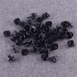 50pcs Black Plastic Engine Under Cover Push Type Retainer Clips Pins Fastener Fit For Toyota 90467-07201