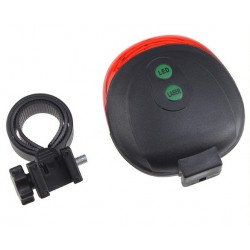 Rear Light 2LASER+5LED for Bicycle