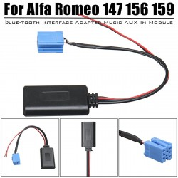 NEW AUX blue-tooth Music Adapter Interface Wireless Radio Stereo Aux Cable For Alfa Romeo 147 156 15