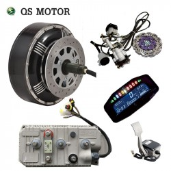 QSMOTOR 4000W 273 50H V3 BLDC electric car hub motor hybrid conversion kits with 400A Controller