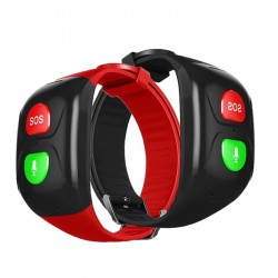 GPS Voice Remind SOS Smart Bracelet Watch NO Screen for Old Man