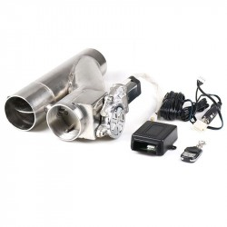 "Patented Product jdm 2.25""/ 2.5""/3"" Electric Exhaust Dump Cutout E-cut Out Bypass/Switch Dual-Valve System"