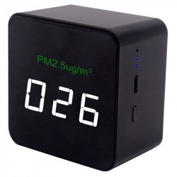 Mini Pm2.5 Detector Air Quality Monitoring Meter Rechargeable