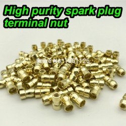 High quality terminal nut spark plug screw cap copper adapter 10pcs