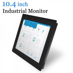 10.4 Clip-On Metal Cash Industrial Computer Monitor USB Touch Screen Monitor