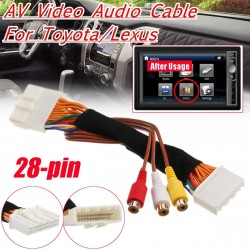 28 Pin AV Video Audio Cable For Toyota Lexus