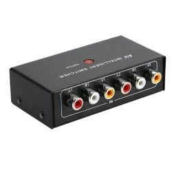 2-1 Channel Car RCA Audio Video Switcher with Button Control Auto Manual Control