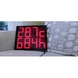 Temperature and Humidity Large Size Display 8 Digits 4 Inches