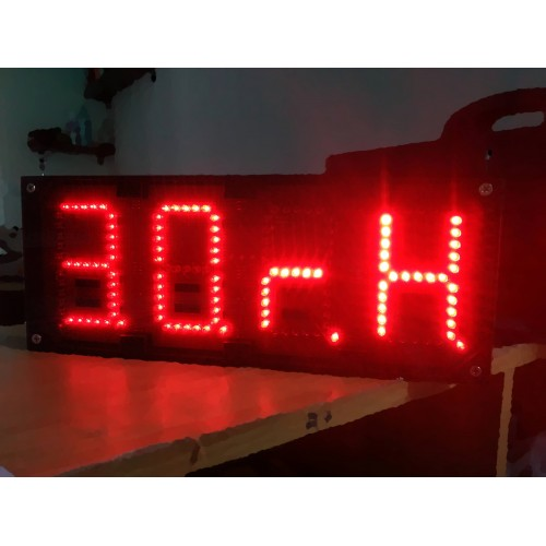 4 Inches 4 Digit 7 Segment LED Temperature and Humidity Display Board