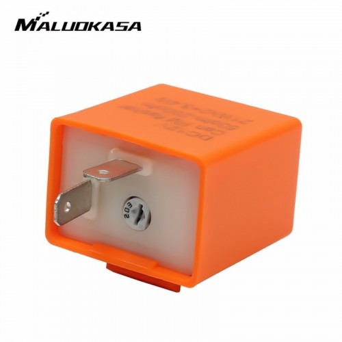 12V 2 Pin Adjustable Frequency LED Flasher Relay Turn Signal Blinker Indicator For Motorcycle Motorbike Accessories