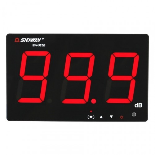 SNDWAY SW-525B Digital Sound Level Meter 30-130dB Large Display USB Powered 9.6 Decibel Meter Sound Diagnostic-tool