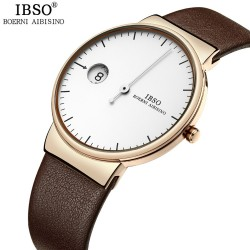 Creative One Hand Watch Men Special Design Simple Luxury Casual Genuine Leather Strap Waterproof