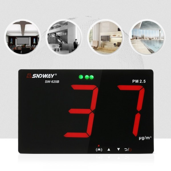 PM2.5 Detector Air Quality Monitor Gas Analyzer With Data Storage Function Wall-mounted Air Inspection Instrument Dust Monitor
