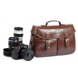 Vintage Look Britpop DSLR camera bag for Canon Nikon Leica Pentax with Shoulder Belt & Handle