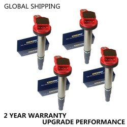 Set of 4 PERFORMANCE IGNITION COILS Corolla Matrix Prius Scion XD VIBE CT200h