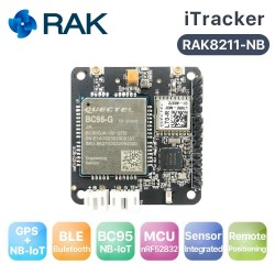 RAK8211-NB iTracker NB-IoT Tracker Module, BC95 Support Global band, NBIoT+BLE+GPS+Sensors, NORDIC52832, Bluetooth 5