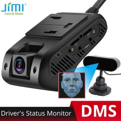 Jimi JC400D AI 4G DMS Dash Cam ADAS Wifi Live Stream Video GPS Tracking Car DVR Fatigue Driving Cut-off Fuel SOS Cloud Storage