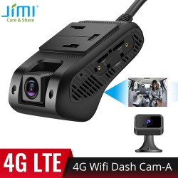 JIMI JC400-A 4G Wifi Dash Cam with Live Stream Video GPS Tracking by APP Cut-off Fuel Remotely Dual lens Car DVR 1080P Bluetooth
