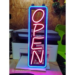 Open Vertical LED Neon Signs for shop