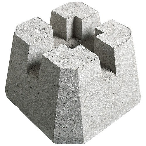 """Deck block in natural colour, is useful to set deck posts in place quickly and easily. The deck block measures 4"""" x 4""""."""