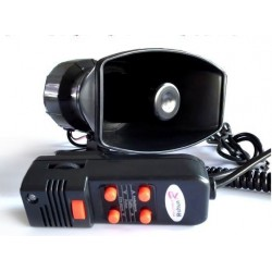 100W Annunciator 2 in1 5Tone electronic siren with MIC