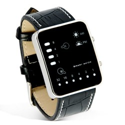Digital LED Watch with Vertical and Horizontal LED Lights