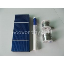 40pcs 3x6Solar Cells for DIY 70W solar panel 200' tab wire 18' bus wire flux pen,solar cell pv cell