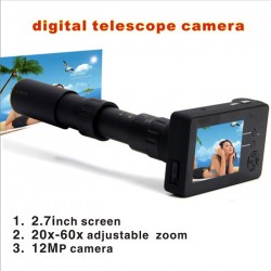 2.7inch TFT Digital Telescope camera 12MP 20x-60x adjustable Zoom