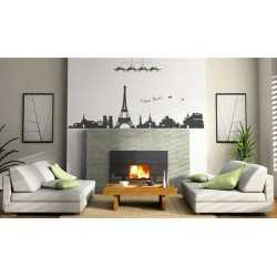 Classics Eiffel tower vinyl wall sticker for room decoration